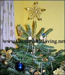 украшенная новогодняя ёлка