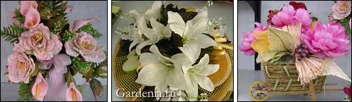 цветочные композиции из калл, лилий и пионов
