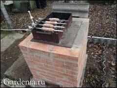 кирпичная садовая печка