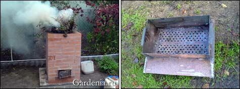 Кирпичная печь для сжигания мусора на даче своими руками 36