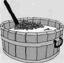 Деревянный чан для приготовления настоя полыни