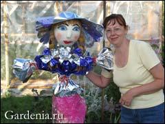 садовая кукла Людмилы. Фото Г.В. Задорожный